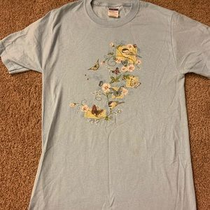 Butterfly and birds t-shirt